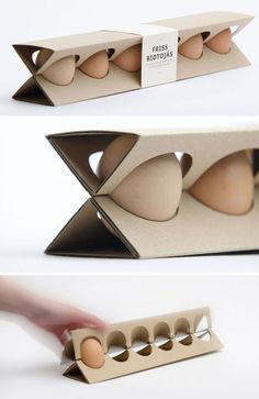 18 Cool Ideas for Paper and Cardboard Packaging, фото № 5 Egg Packaging, Food Packaging Design, Packaging Design Inspiration, Branding Design, Vegetable Packaging, Innovative Packaging, Cardboard Packaging, Carton Box, Box Design
