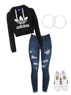 """#adidasalltheway"" by nakeke2025 ❤ liked on Polyvore featuring Topshop and adidas Originals"