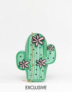 Skinnydip | Skinnydip Exclusive Cactus Cross Body Bag at ASOS