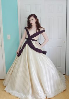 This person is amazing.  She designs costumes and can figure out how to make something by looking at a photo.  If you look through her blog she shows some of her creations with detailed instructions on how she made them.