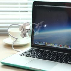 Cute Spaceman Astronaut LED Flexible USB light Laptop for Adult and Kids