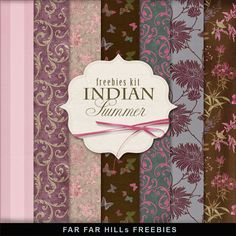 Nueva Freebies Kit de Fondos - Indian Summer