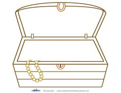treasure chest pictures to print and color | images of how to draw a ...