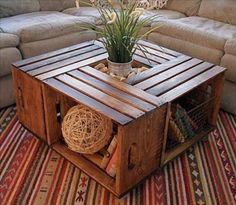 Cute DIY Crate Table