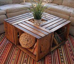 Cute DIY Crate Table
