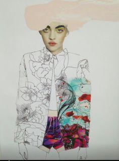 Fashion illustration on ArtLuxe Designs. #artluxedesigns #fashionillustration