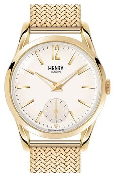 Henry London 'Westminster' Bracelet Watch, 30mm available at #Nordstrom