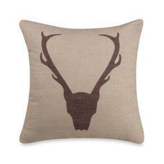Antlers Linen Square Toss Pillow - BedBathandBeyond.com
