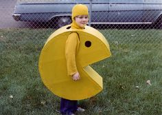 This my brother Chris, at Halloween, circa 1981 or so. He is still a giant gamer and redid this costume about 5 years ago. I'm pretty sure his old son will be in one soon. Holidays Halloween, Halloween Costumes For Kids, Vintage Halloween, Halloween Crafts, Happy Halloween, Halloween Decorations, Halloween Party, Halloween Clothes, Creative Costumes