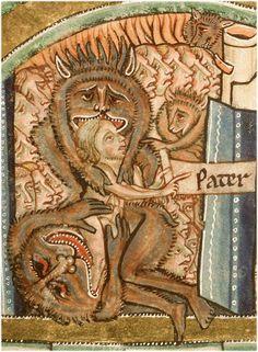 Bible de Manerius,c. 1185-1195, ms. 0010, f. 128v, Paris - Bibl. Sainte-Geneviève.