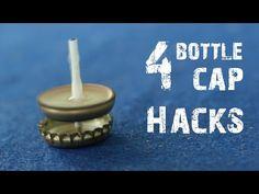 4 Amazing life hacks using Bottle Caps - YouTube