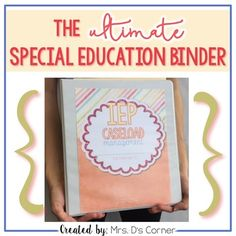*Updated 5.5.16* Being a caseload manager and special education teacher is a wonderful experience that, unfortunately, includes tons of special education jargon and paperwork that can sometimes become overwhelming. This binder is your key to tidying up your daily caseload, organizing key special education information, and focusing more on your students, rather than the paperwork.