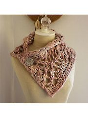Fleche Chunky Lace Neckwarmer, pattern available through Annie's