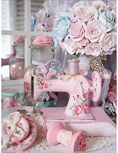 Cocina Shabby Chic, Shabby Chic Kitchen, Shabby Chic Cottage, Shabby Chic Homes, Romantic Cottage, Rose Cottage, Rosa Shabby Chic, Vintage Shabby Chic, Shabby Chic Style