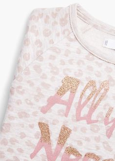 Glitter message sweatshirt