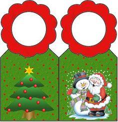 Natal – Kit Completo com molduras para convites, rótulos para guloseimas, lembrancinhas e imagens! | Fazendo a Nossa Festa