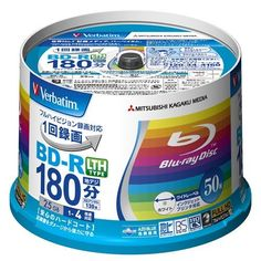 Verbatim Mitsubishi 25GB 4x Speed BD-R Blu-ray LTH TYPE Recordable Disk 50 Spindle Pack - Ink-jet printable by Verbatim. $89.00. Verbatim Blu-Ray disc - BD-R LTH Type - 25GB 4x Speed - 50 Pack Spindle - Version 1.2 - 2011 Series