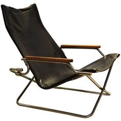 Japanese Modernist Folding Sling Chair by Uchida 1