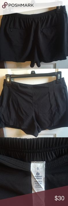 Black lululemon go endeavor shorts Black shorts that are semi pleated. Great quality just a little to big for me! lululemon athletica Shorts