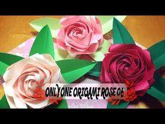 二重螺旋の折り紙のバラ 06 Double helix origami rose 06 - YouTube