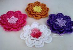 crochet modele patron gratuit | ... Image with Crochet Patrons Modles Gratuits 27 Fleurs Au Crochet