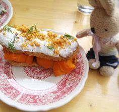 Smoked Carrot Eclairs @vinpapillon Eclaire de Carottes fumees ($8) Eclairs, Montreal, Eggs, Vegetables, Breakfast, Travel, Food, Carrot, Morning Coffee