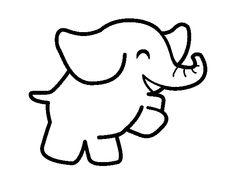 Dibujo de Elefante bailarín para colorear