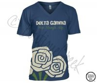 Delta Gamma Roses Tee -ΔΓ Collection. Design Exclusive to BoutiqueGreek.com