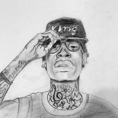 Sketching Wiz Khalifa #sketch #art #drawing #shades #hiphop