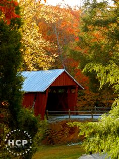 Covered Bridge in Color