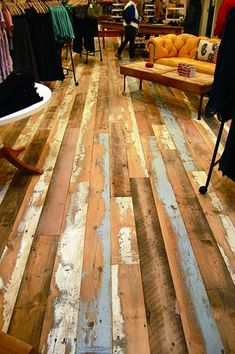 I want these floors they are so cute. Reclaimed Wood Products - From May 2012 - Products - Greensource Magazine