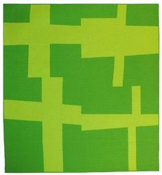 "Denyse Schmidt, Santa Fe Series ""Four Crosses, lime, cactus""."