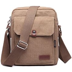 MeCool Mens Shoulder Weekend Messenger Travel Crossbody Bag for Outdoor Bike Sports Vintage Overnight Casual Cross Body Satchel Side Pack Retro Bag Khaki * More info could be found at the image url.