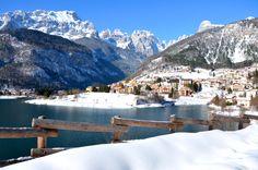 Molveno e le #Dolomiti #lake Molveno and the Dolomites