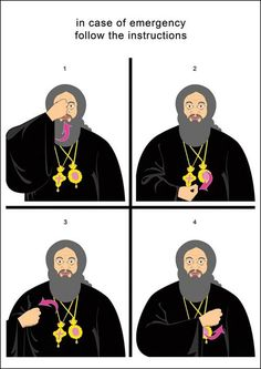 This is how Orthodox do their cross.  Pop did his a lot!  In case of emergency .........follow instructions :)