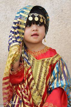 Arabian  Bahrain girl in traditional clothing