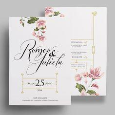 Invitación de boda de la colección floral. Con meseros y menús a juego en nuestra shop online. Desde 2,92€/u