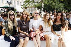 Pin for Later: Seht alle Stars bei der Berlin Fashion Week Mirja du Mont, Eva Padberg, Franziska Knuppe, Cathy Hummels und Johanna Klum bei der Modenschau von Marina Hoermanseder
