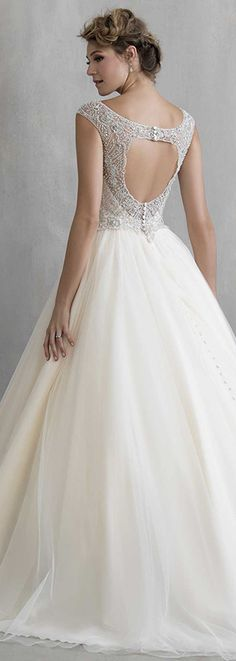 Bellethemagazine wedding dresses | Madison James Spring 2016 | Floor Ivory Ball Gown V-Neck $$ ($1,001-2,000)