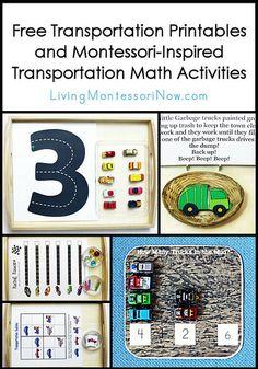 Free Transportation Printables and Montessori-Inspired Transportation Math Activities
