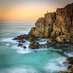 Penencia Point Galicia Spain. Doninos, Esmelle and St. George's Beach are beaches in Ferrol, Spain. Ferrol is privileged to have, within its borders, several high quality gorgeous sandy beaches that are ideal for practising water sports.