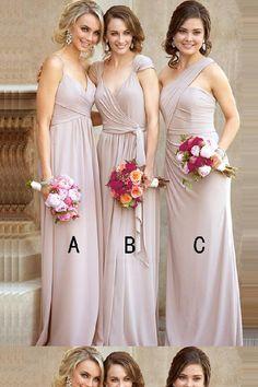 A-Line Bridesmaid Dresses Bridesmaid Dresses Long Chiffon Bridesmaid Dresses Grey Bridesmaid Dresses Bridesmaid Dresses 2018 Grey Party Dresses, A Line Prom Dresses, Beautiful Prom Dresses, Mermaid Prom Dresses, Cheap Prom Dresses, Prom Gowns, Cheap Dress, Dress Prom, Formal Gowns