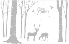For AliciaForest decalForest wall decalForest by Clarkwallartdecal, $45.00