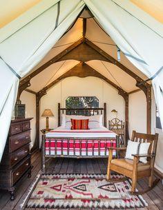 Indoor Outdoor Bathroom, Indoor Outdoor Living, Luxury Glamping, Camping Glamping, Outdoor Camping, Wall Tent, Whidbey Island, Architect Design, Maine House