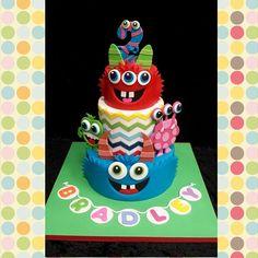 Bradley's little monster birthday cake
