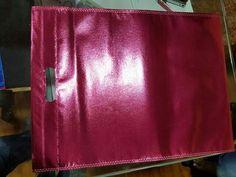 Pink metallic D-cut bag