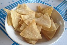 These crispy, fresh, homemade tortilla chips are a breeze to make and they're perfect with any sort of dip, especially fresh salsa and guacamole.