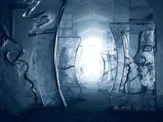 ice hotel, jukkasjarvi, sweden, arctic circle, sculptures