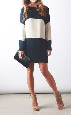LOVE the color block, length and sleeves