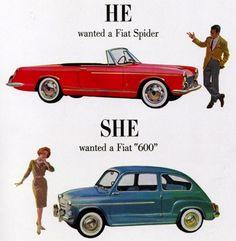 Cool #vintage #fiat #ads